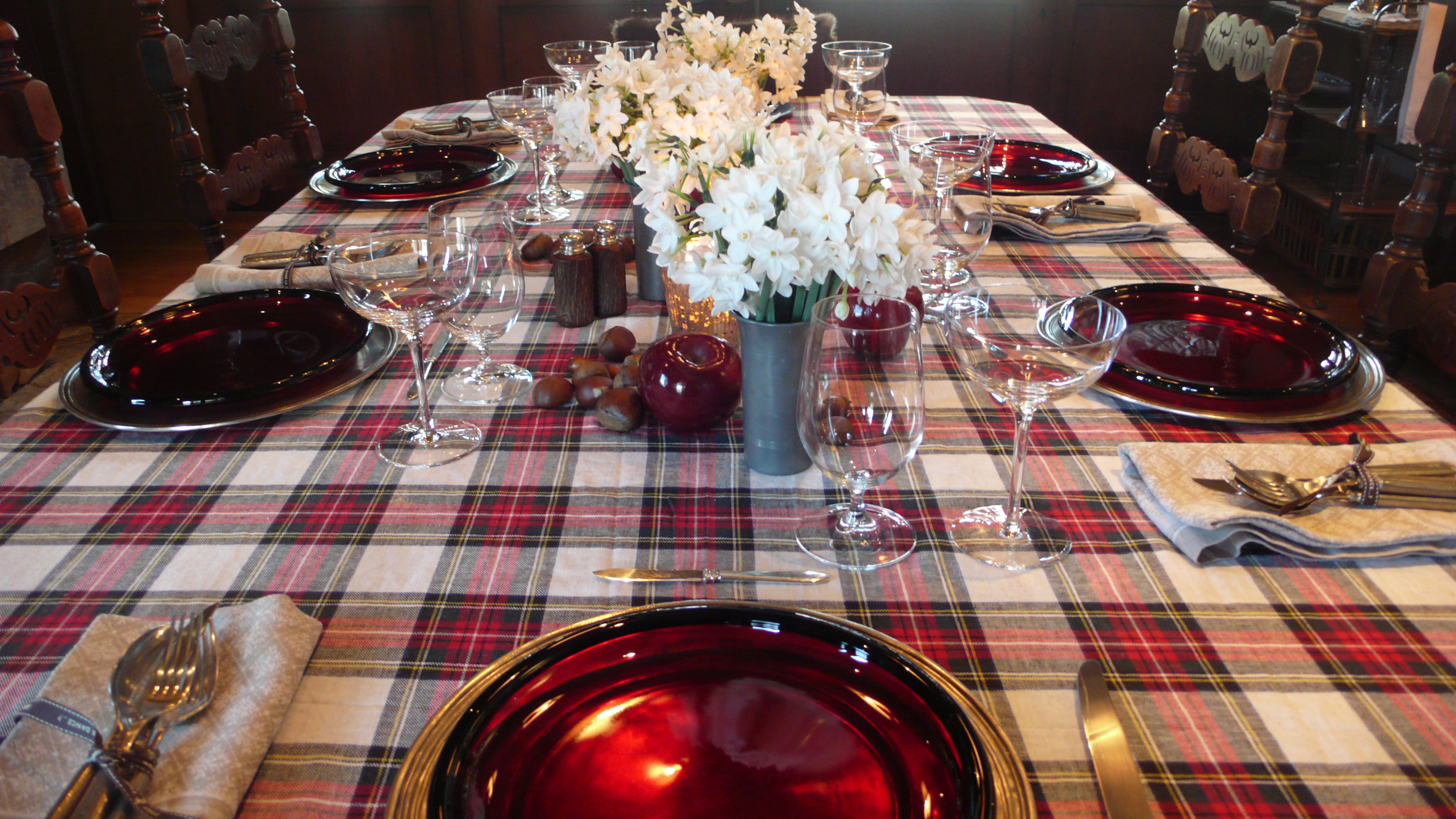 Thanksgiving table setting, Sun Valley, slimpaley.com