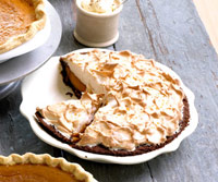 Ginger Pumpkin Meringue pie