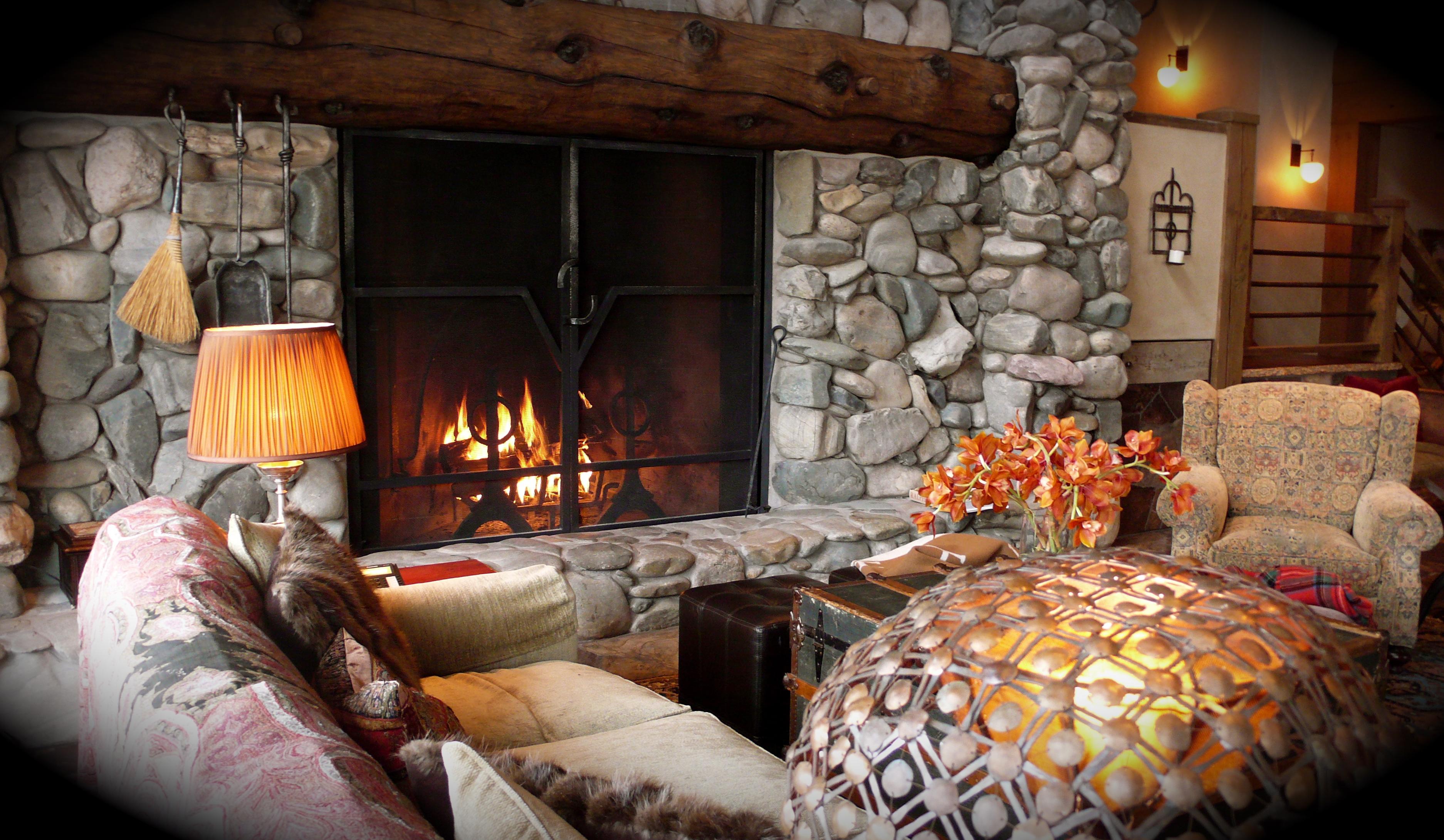 Stone fireplace, slimpaley.com