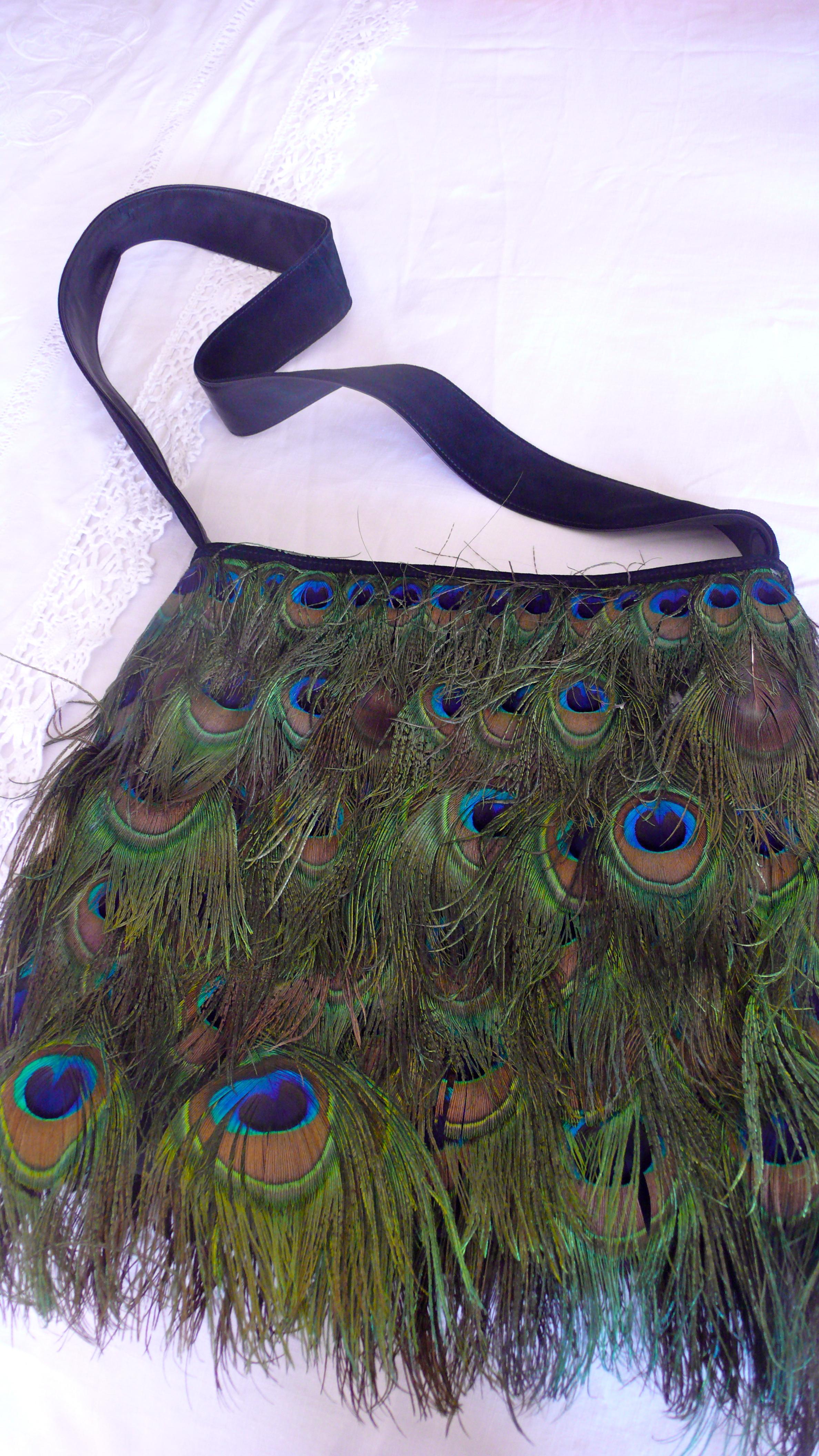 #Vintage Tom Ford #Gucci peacock bag , slimpaley.com