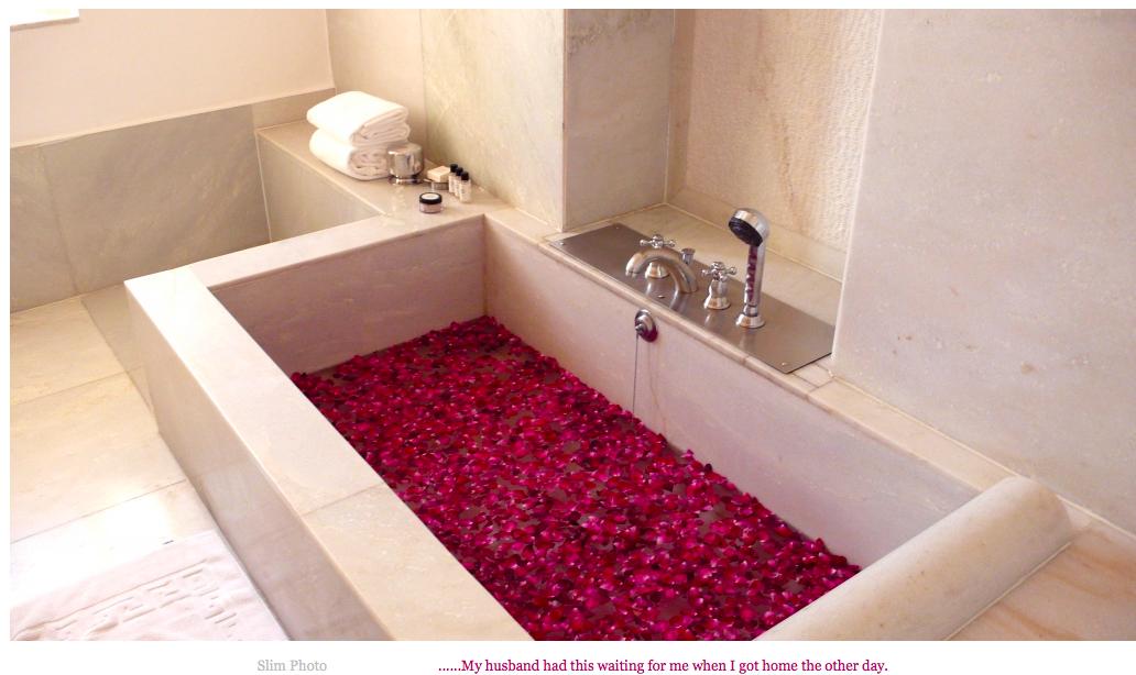 rose petal bath, Devigarh hotel, slimpaley.com