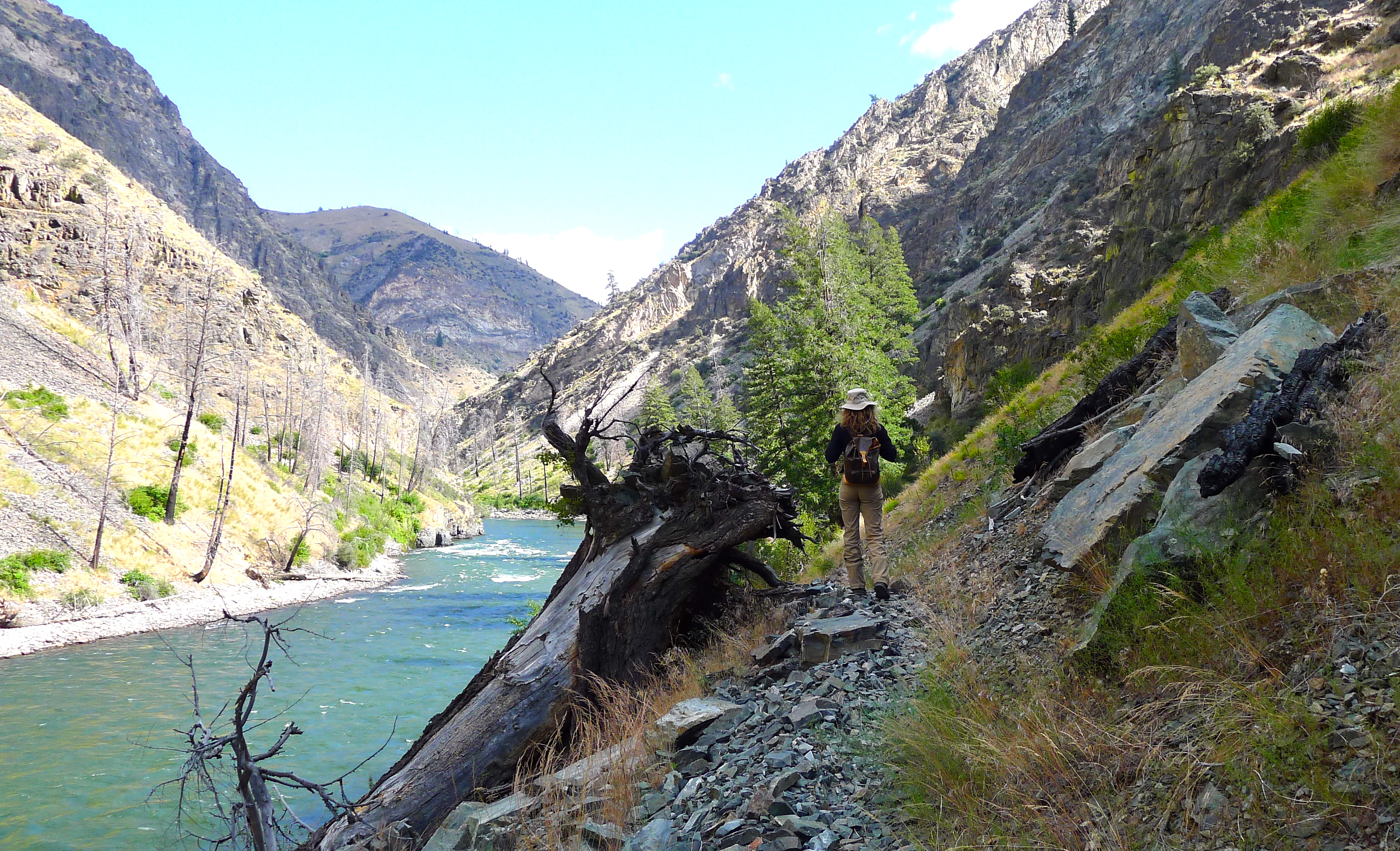 Hiking the river, Idaho, slimpaley.com