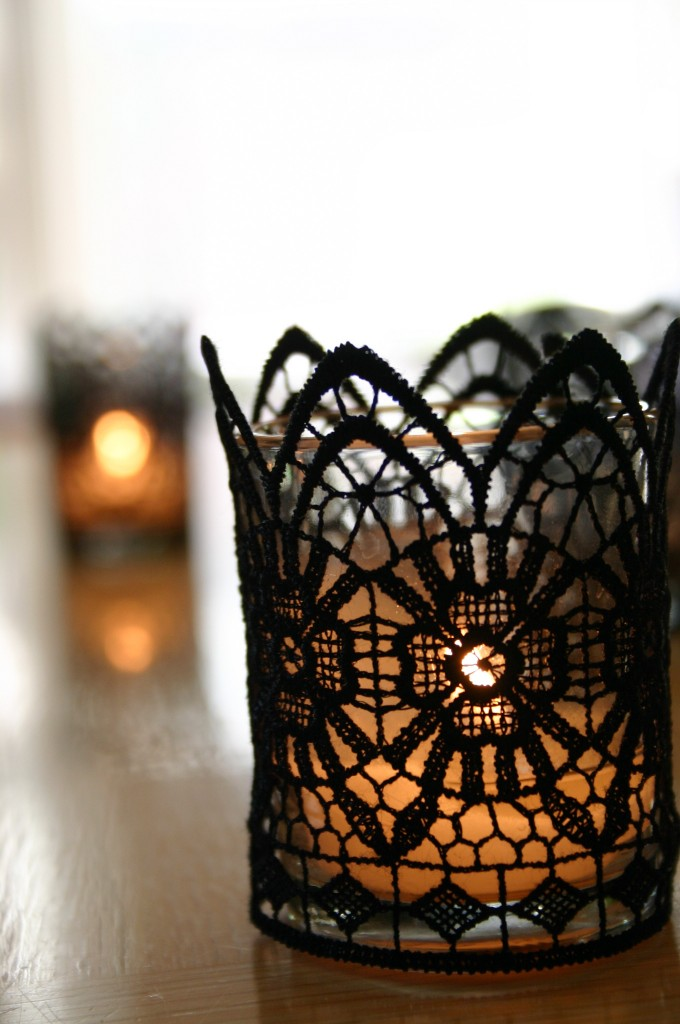 black lace votive