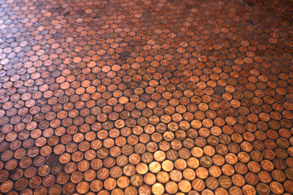 floor made of pennies