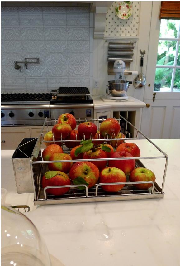 apples, Slim Paley kitchen