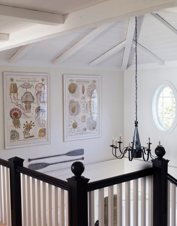 black stair railings