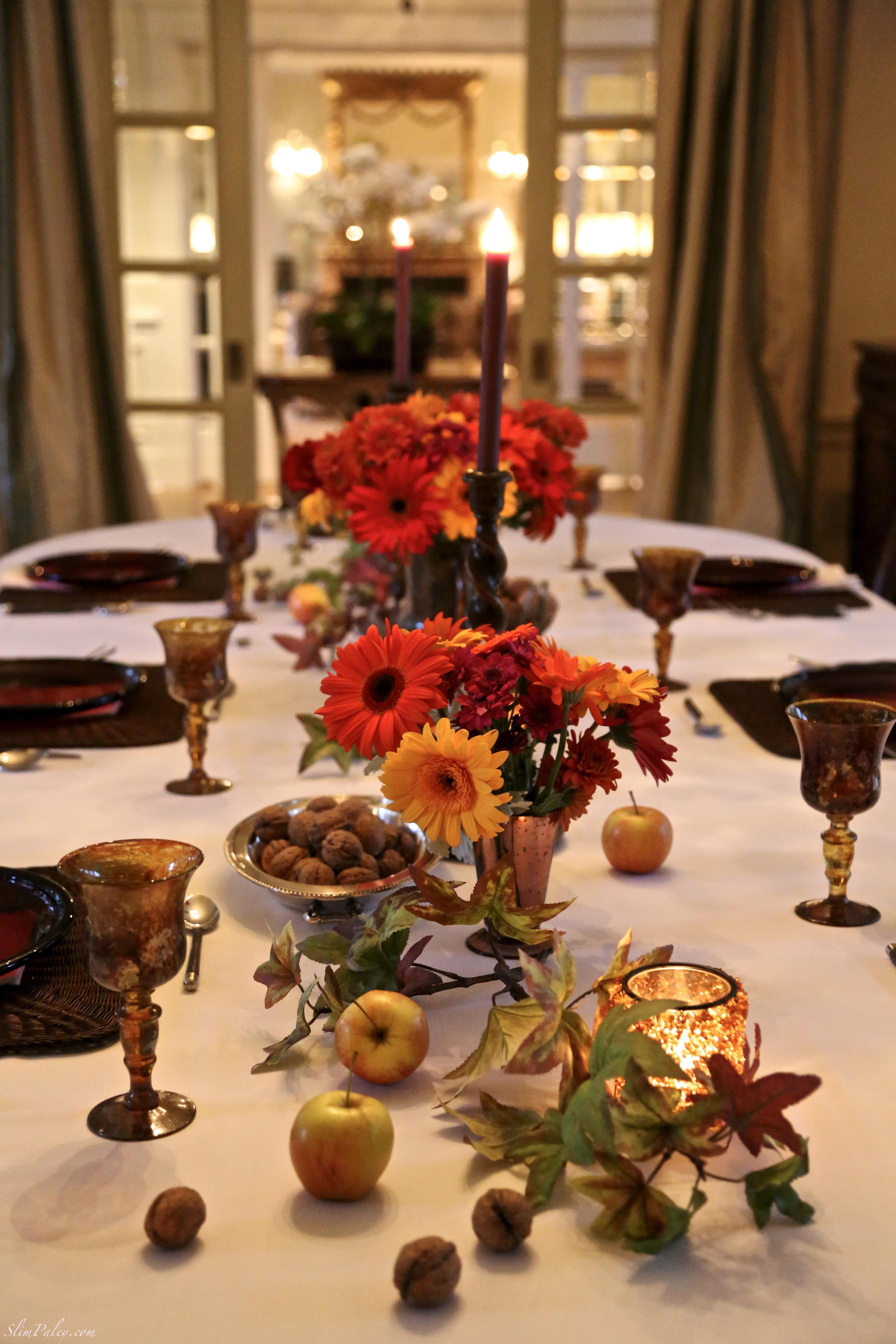 Fall dinner table