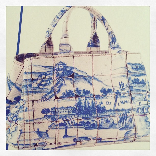 Prada Delft tile handbag
