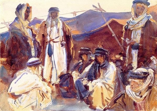 Bedouin watercolours, John SInger Sargent