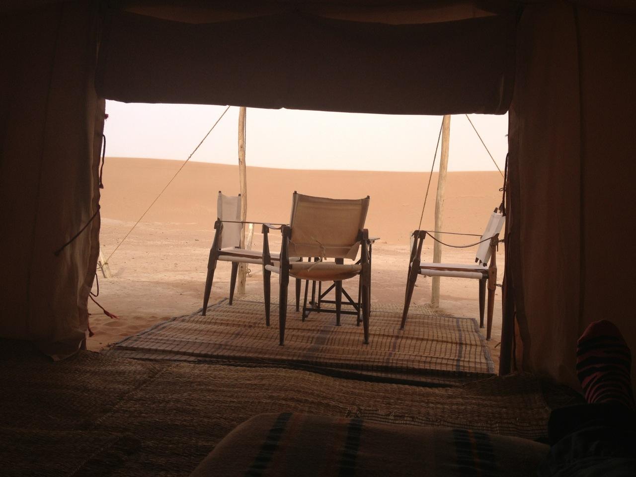 Moroccan desert tent