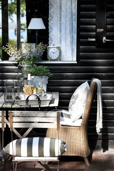 black & white exterior
