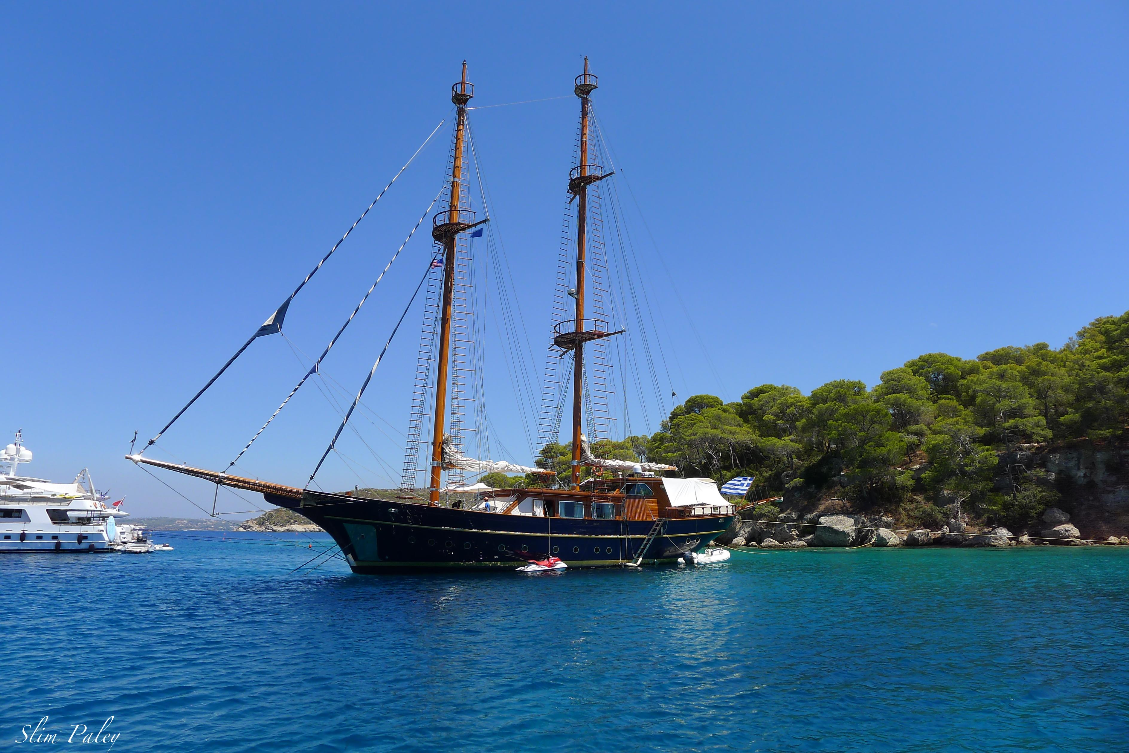 sail boat in Greece