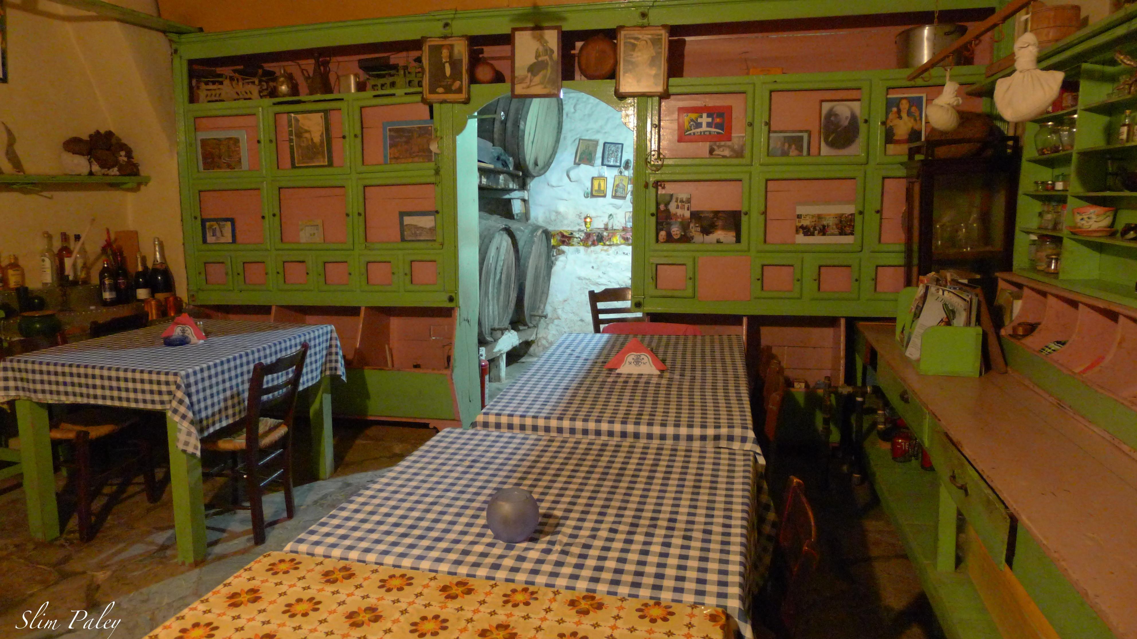 traditional old Greek restaurant kitchen