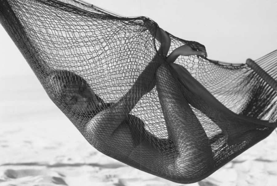 black & white hammock photo