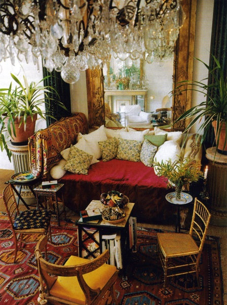 Loulou Falaise's living room