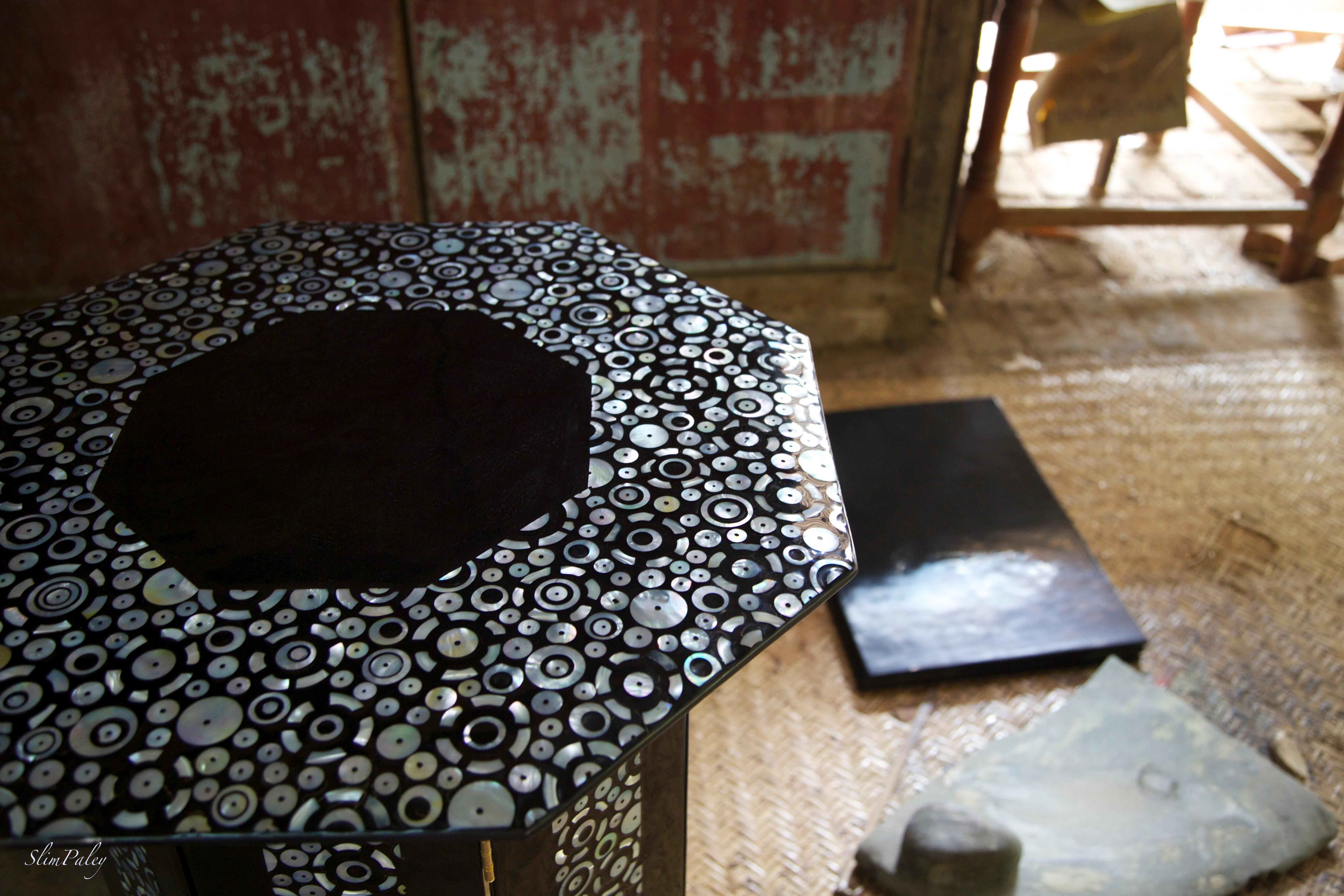 lacquer & mother of pearl table slimpaley.c