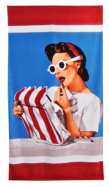6. fab.com conde nast lipstick beach towel