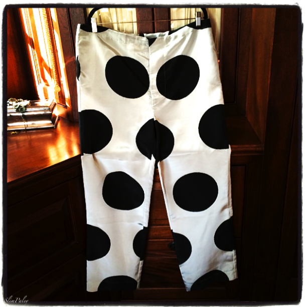 Marni polka dot silk trousers, Slim Paley photo
