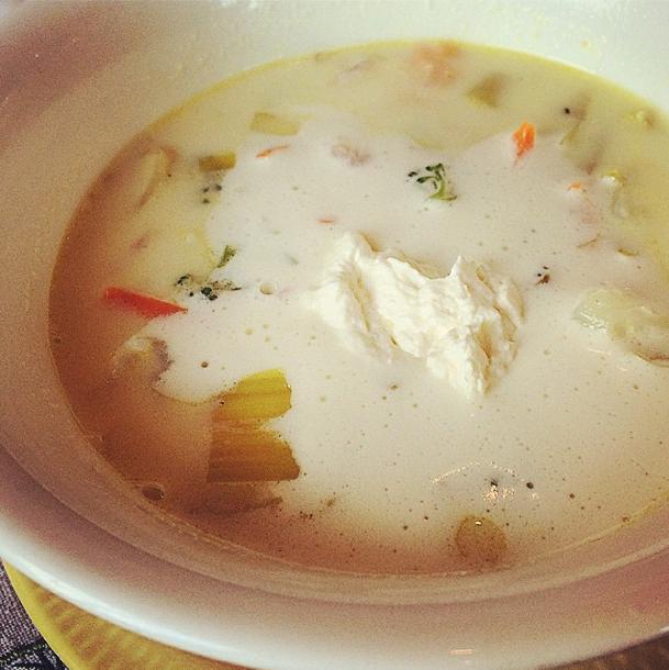 seafood chowder Slimpaley Instagram