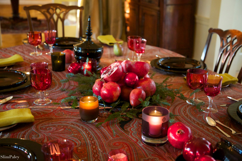 890A4534 slim paley christmas table