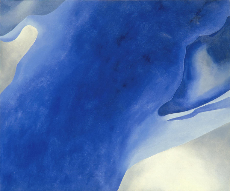 Blue B PAINTINGS O'Keeffe, Georgia American (1887-1986) 1959 oil on canvas 30 x 36 in. Gift of Mrs. Harry Lynde Bradley (M1973.606)